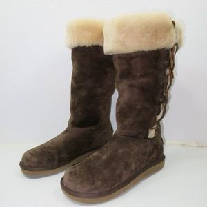UGG Tall Lace Up Australia Insulated Winter Boots